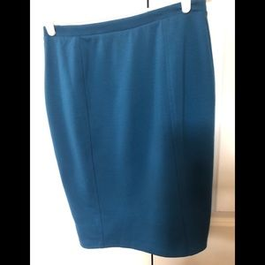Great teal ponte pencil skirt